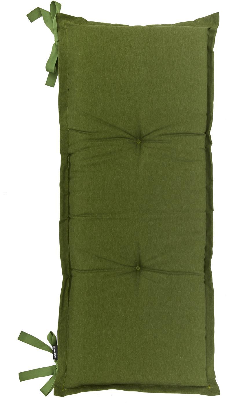 Cuscino sedia lungo Panama, 50% cotone, 45% poliestere, 5% altre fibre, Verde, Larg. 48 x Lung. 150 cm