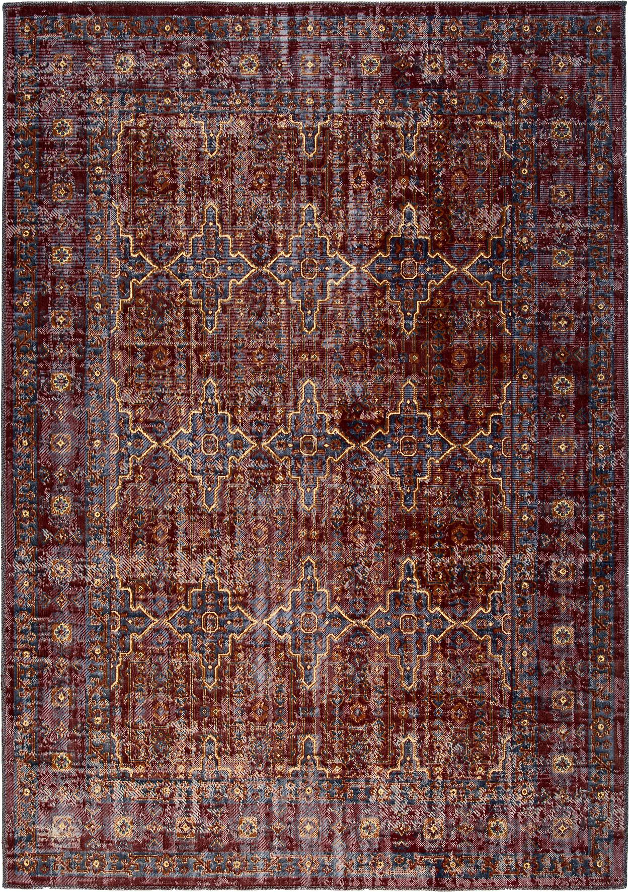In- & Outdoor-Teppich Tilas Izmir in Dunkelrot, Orient Style, Dunkelrot, Senfgelb, Khaki, B 120 x L 170 cm (Größe S)