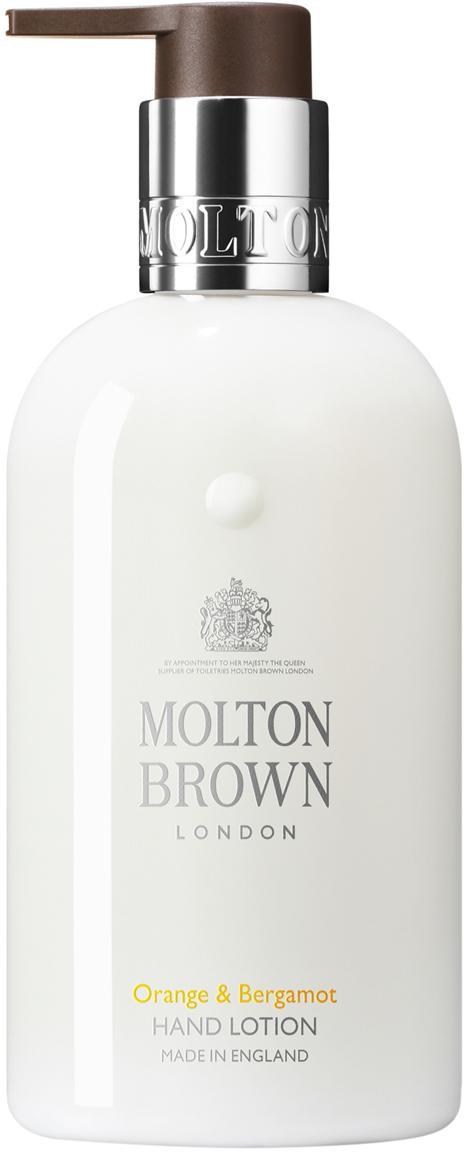 Handcreme Molton (Orange & Bergamotte), Behälter: Recycelbarer Kunststoff, Weiss, Ø 6 x H 15 cm