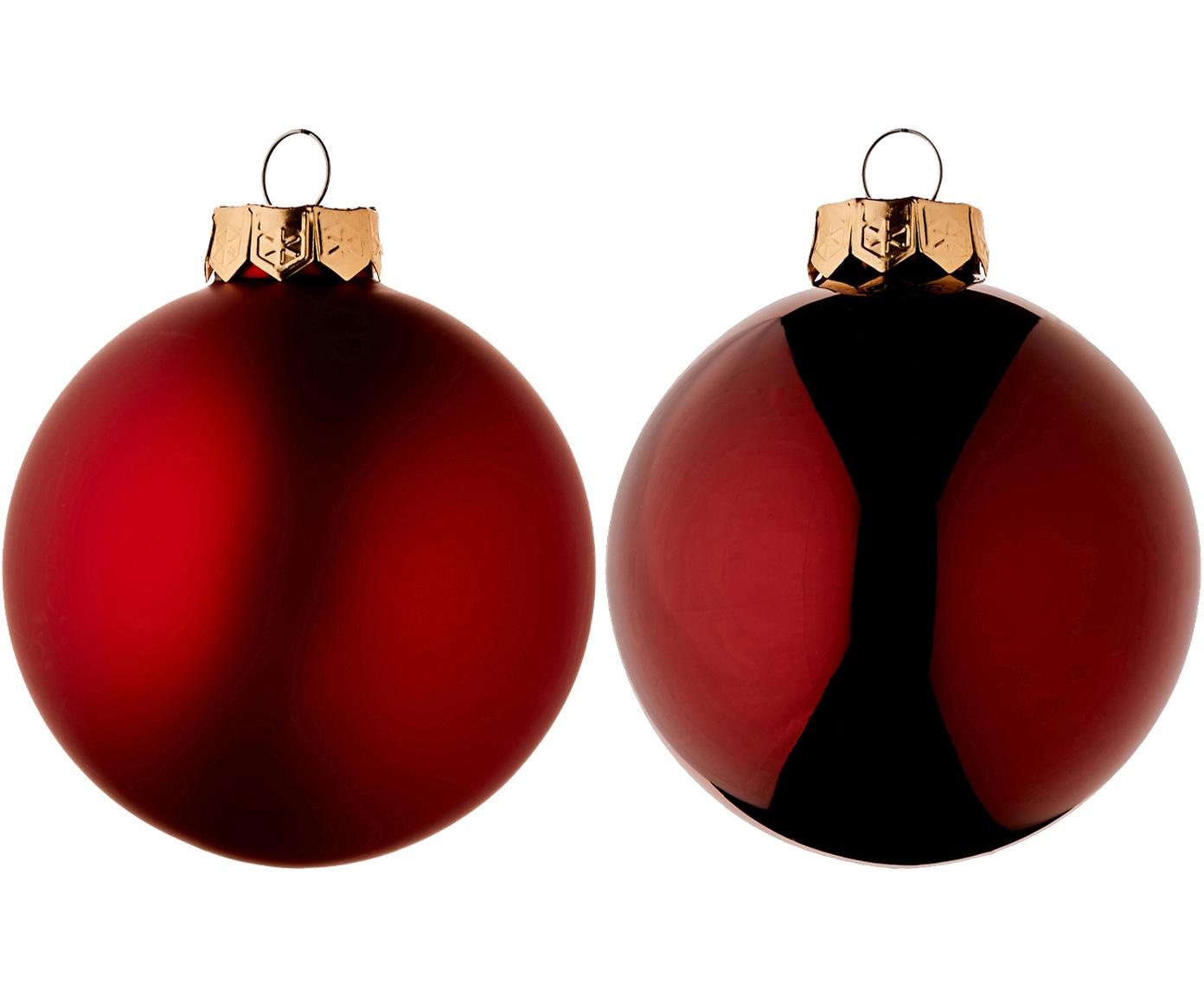 Weihnachtskugel-Set EvergreenØ8cm, 6-tlg., Rot, Ø 8 cm