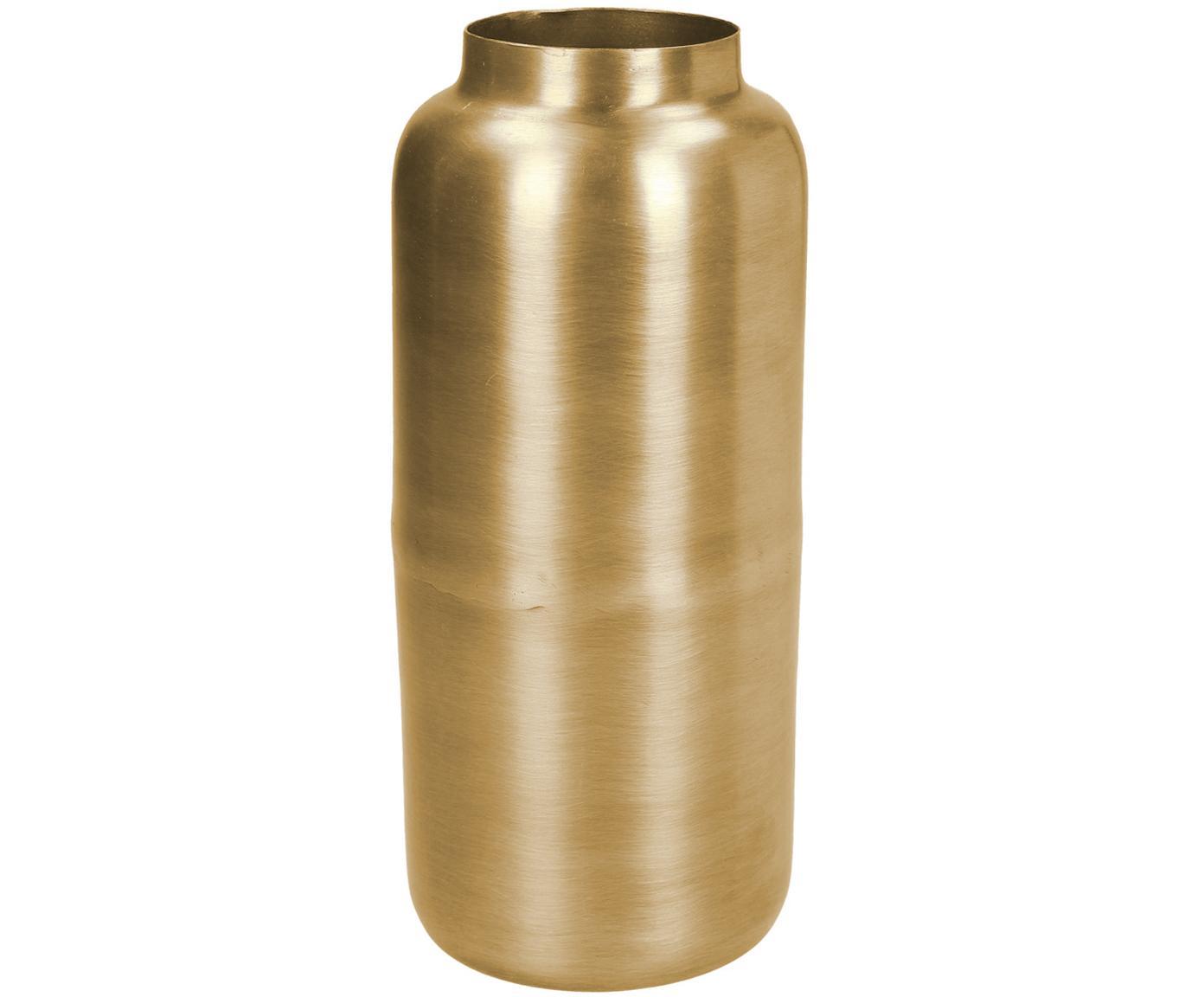 Jarrón de metal Simply, Metal, recubierto y no impermeable, Latón, Ø 8 x Al 19 cm