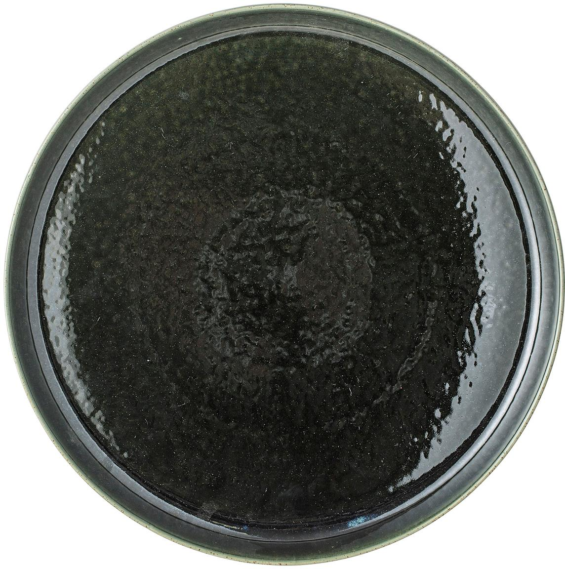 Vassoio fatto a mano Lara, Terracotta, Verde, Ø 33 cm