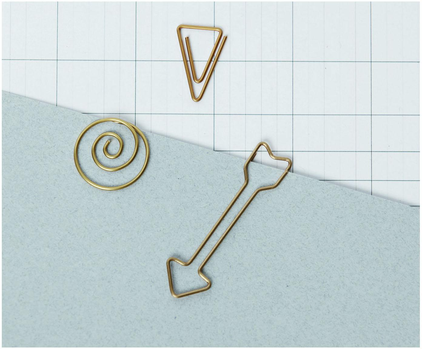 Büroklammern Shape, 15 Stück, Kupfer, Kupfer, L 3 cm