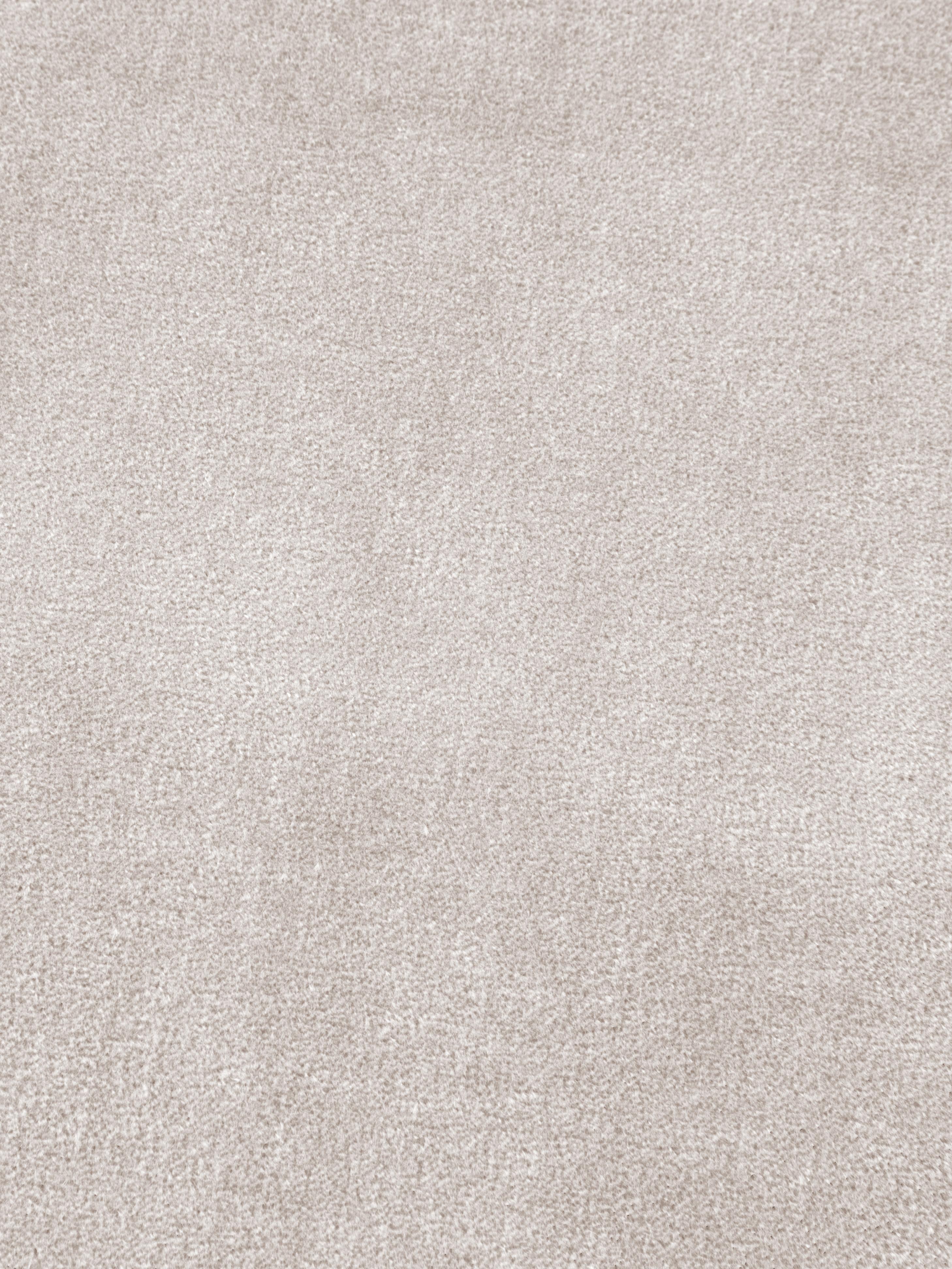 Puf z frędzlami Adriana, Tapicerka: aksamit bawełniany, Szampański, Ø 40 x W 40 cm
