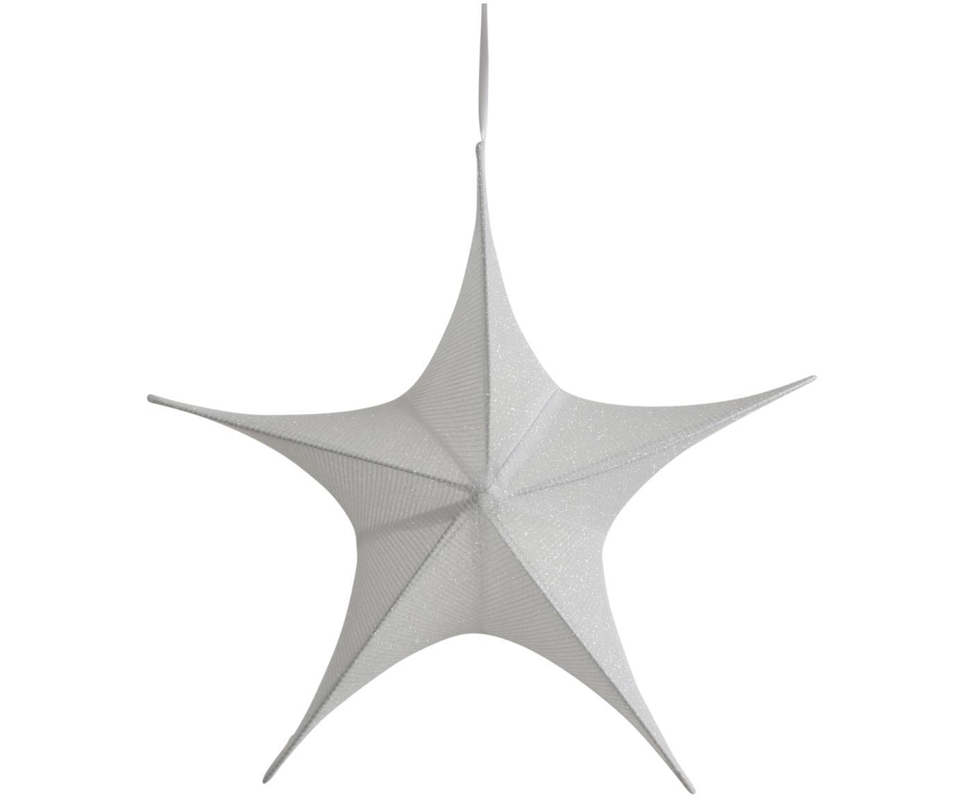 Adorno navideño Kamilla, Funda: poliéster, Estructura: metal, Blanco, Al 215 cm