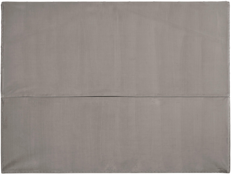 Premium Samt-Boxspringbett Phoebe, Matratze: 7-Zonen-Taschenfederkern , Füße: Massives Buchenholz, lack, Taupe, 180 x 200 cm