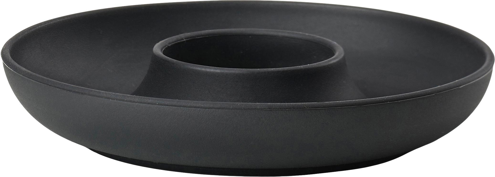 Eierdopje Henk, 4 stuks, Silicone, gecoat metaal, Zwart, Ø 11 cm