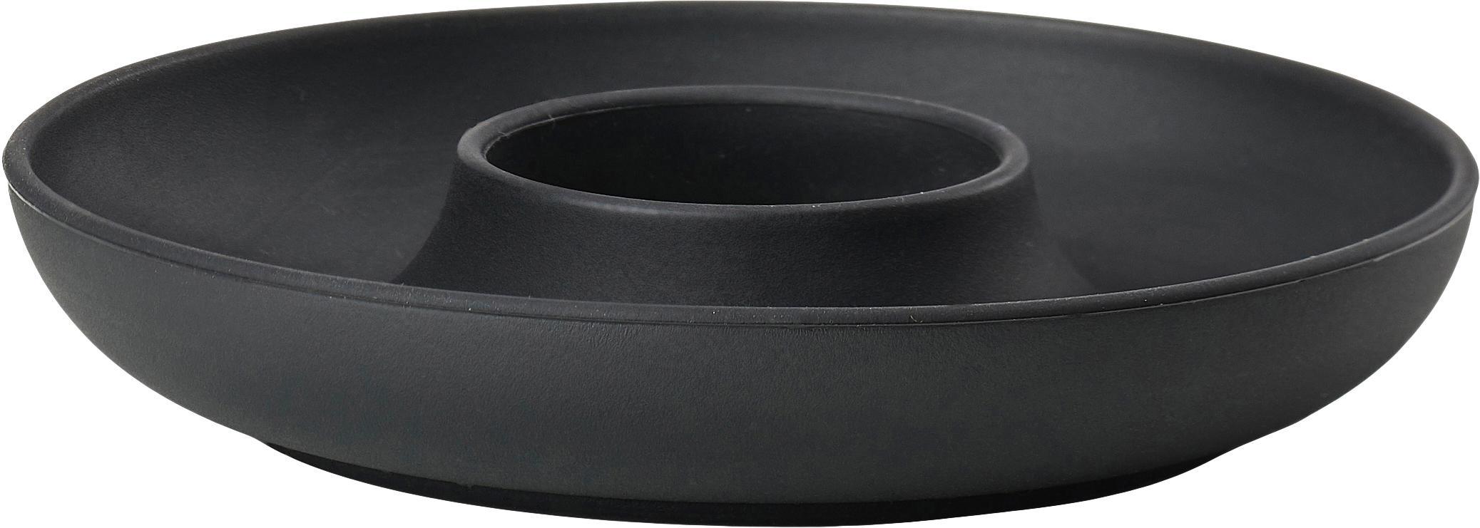 Kieliszek do jajek Henk, 4 szt., Silikon, metal powlekany, Czarny, Ø 11 cm