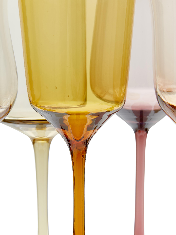 Bicchiere da vino rosso in vetro soffiato Desigual, set di 6, Vetro soffiato a bocca, Marrone, toni rosa, verde, giallo, viola, Ø 7 cm