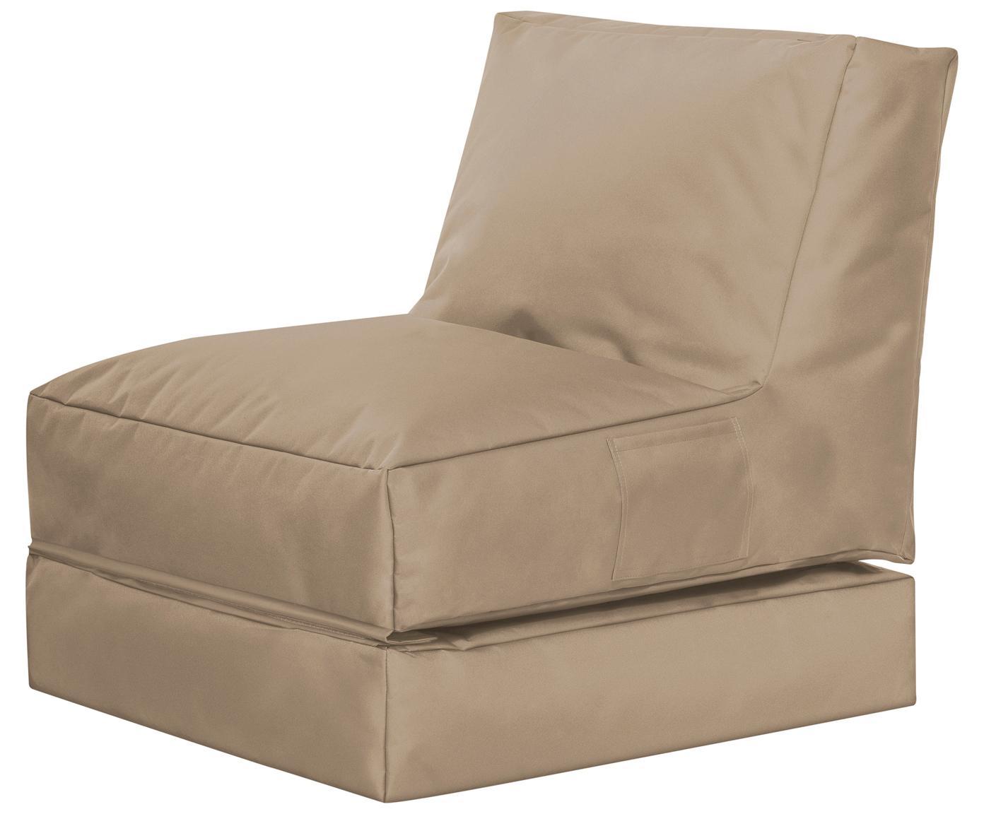 Fotel ogrodowy z funkcją leżenia Pop Up, Tapicerka: 100% poliester Wewnątrz p, Khaki, S 70 x W 80 cm