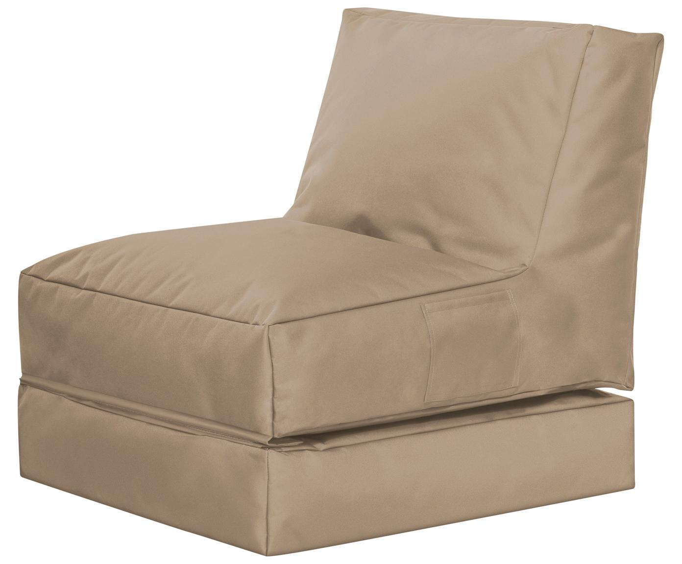 Sillón de jardín Pop Up, reclinable, Tapizado: 100%poliéster Interior c, Caqui, An 70 x Al 80 cm