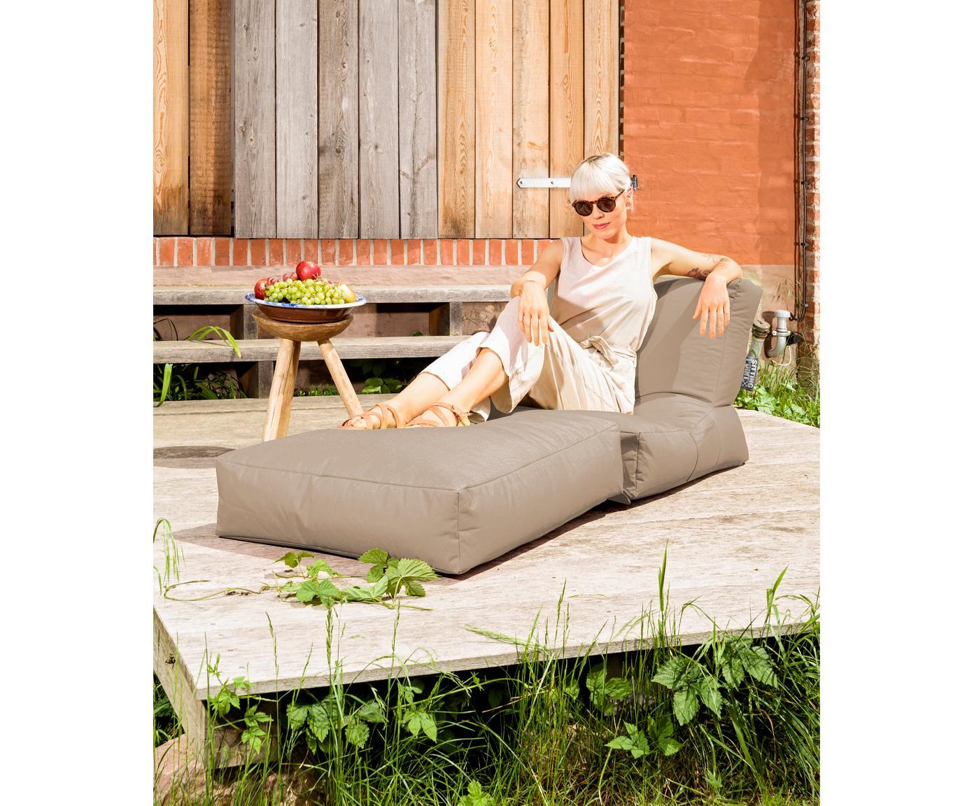 Outdoor loungefauteuil Pop Up met ligfunctie, Kakigroen, 70 x 80 cm