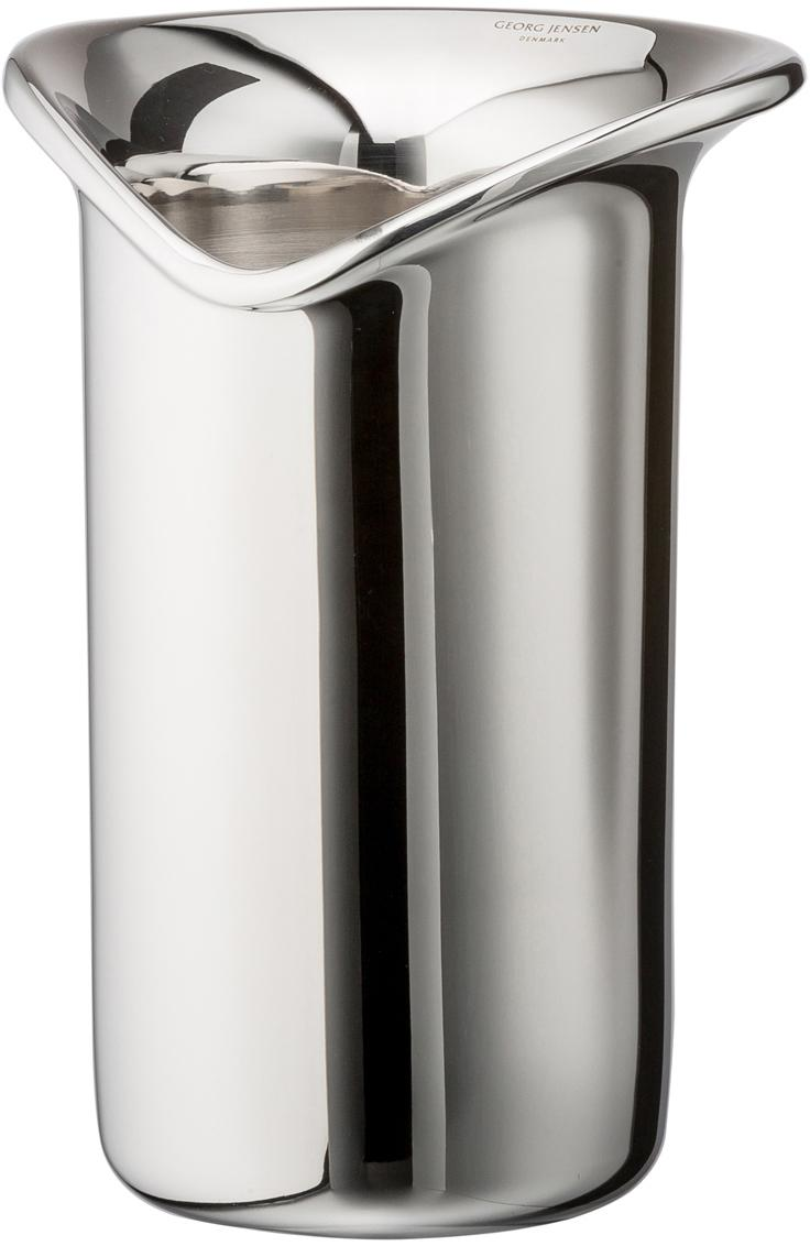 Flaschenkühler Wine & Bar, Edelstahl, hochglanzpoliert, Edelstahl, glänzend, 16 x 22 cm