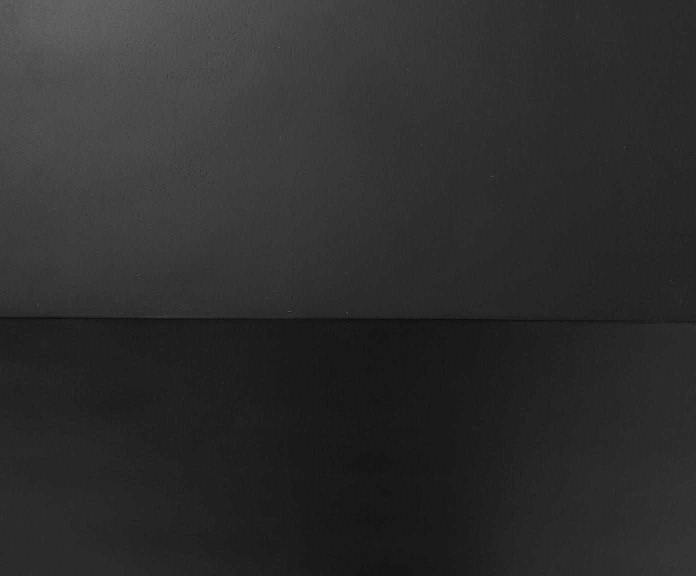 Konsola z litego drewna z przedziałem Lyle, Stelaż: metal malowany proszkowo, Drewno mangowe, czarny lakierowany, S 105 x D 89 cm