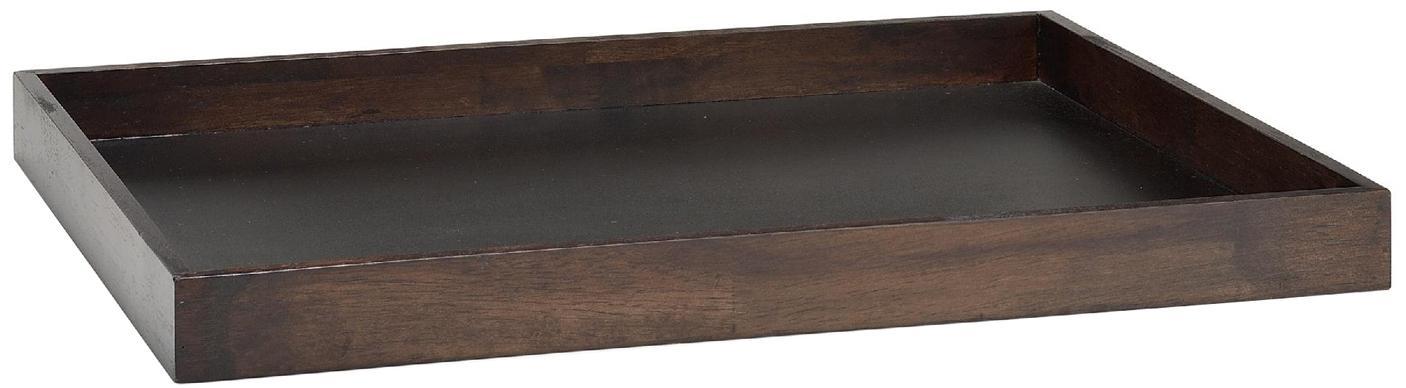 Taca dekoracyjna Matthias, Drewno naturalne, Brązowy, S 54 x G 45 cm