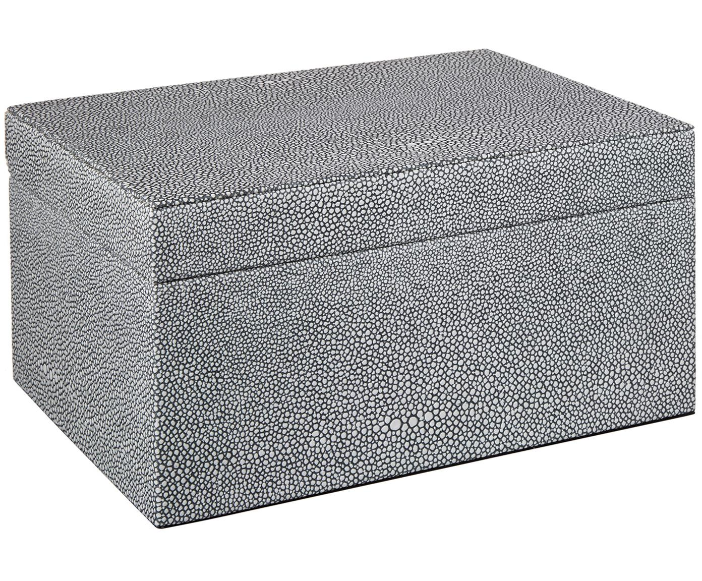 Sieradendoos Megan, Doos: medium-density fibreboard, Donkergrijs, 26 x 13 cm