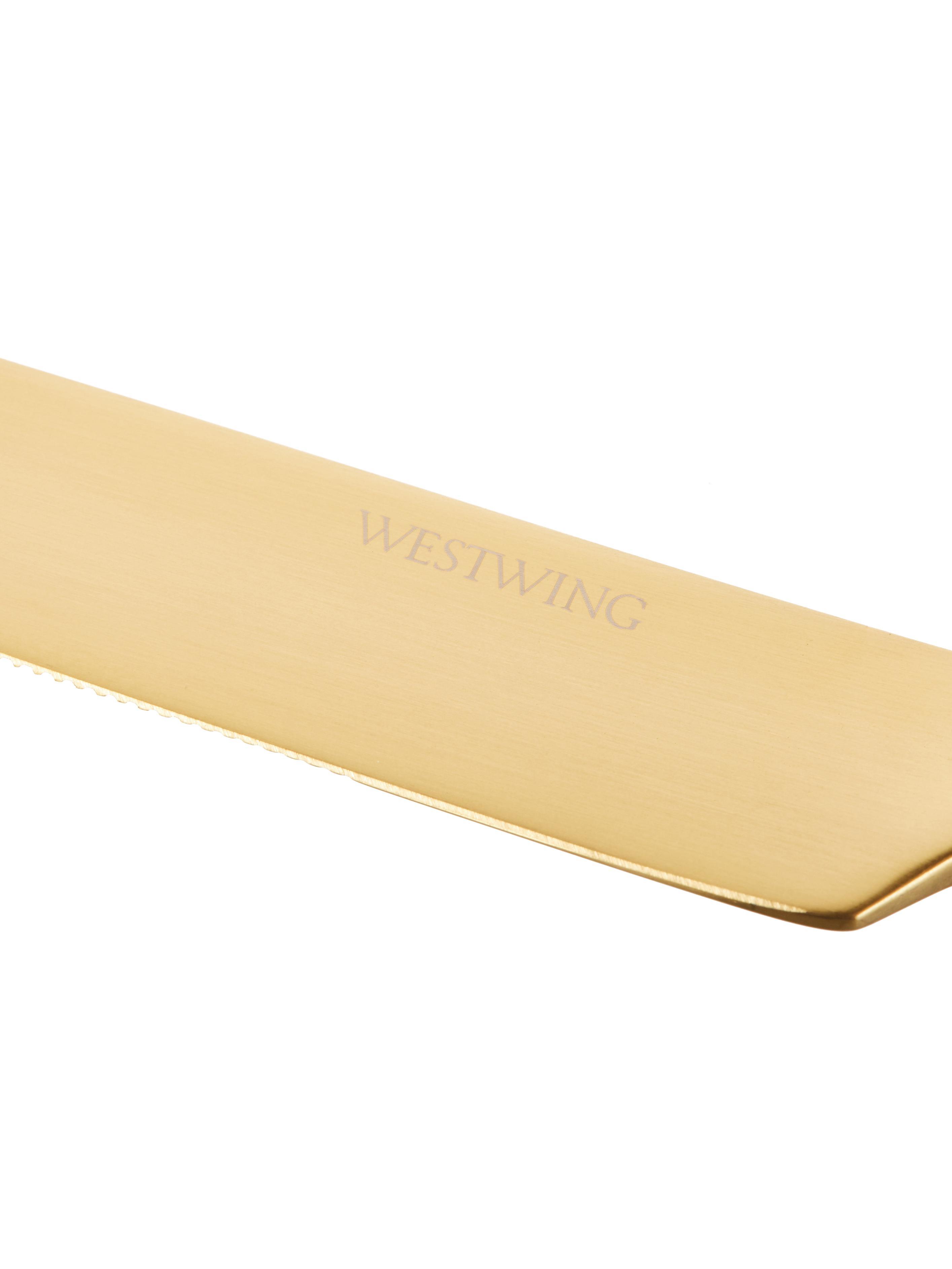 Cubertería de acero inoxidable Shine, Dorado, 1 comensal (5 pzas.)