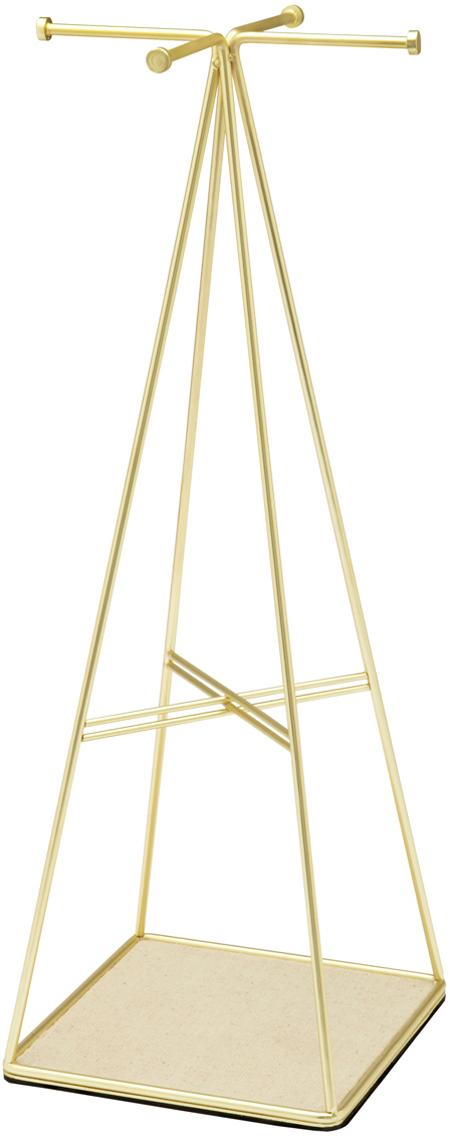 Porta joyas Prisma, Latón, mate, beige, An 14 x Al 36 cm