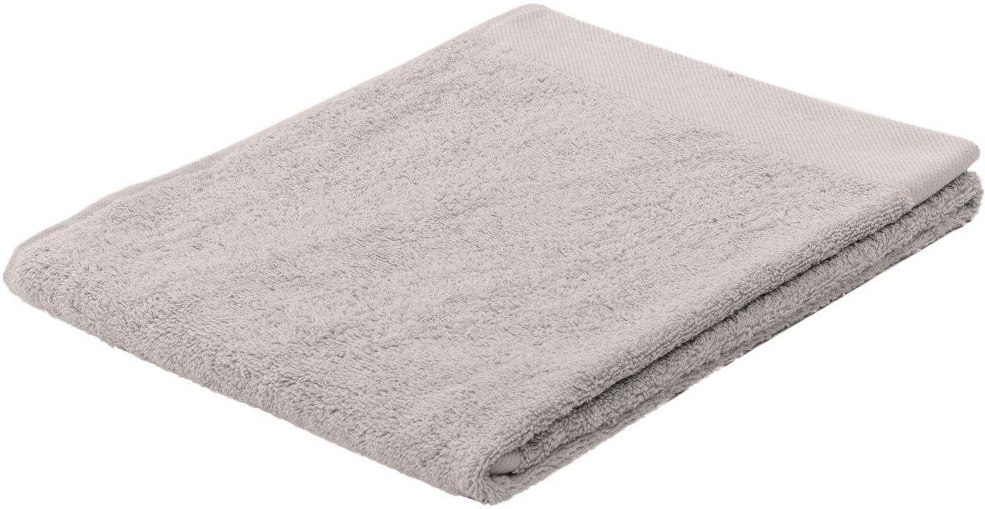 Handtuch Blend in verschiedenen Grössen, aus recyceltem Baumwoll-Mix, Hellgrau, Handtuch