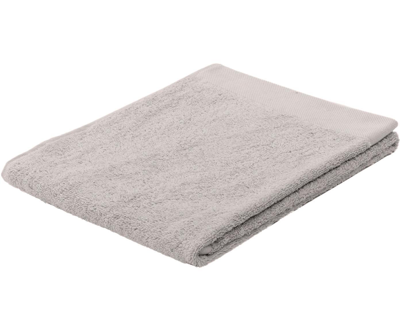 Handtuch Blend aus recyceltem Baumwoll-Mix, Hellgrau, Handtuch