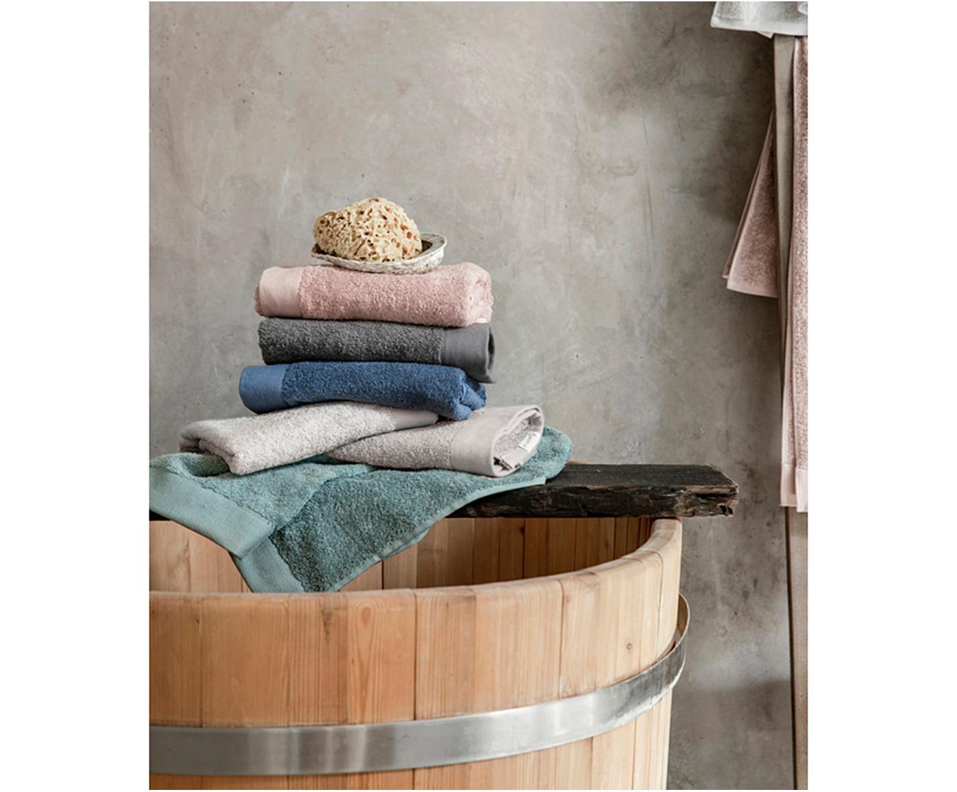 Asciugamano in cotone misto riciclato Blend, 65% cotone riciclato, 35% poliestere riciclato, Grigio chiaro, Asciugamano per ospiti