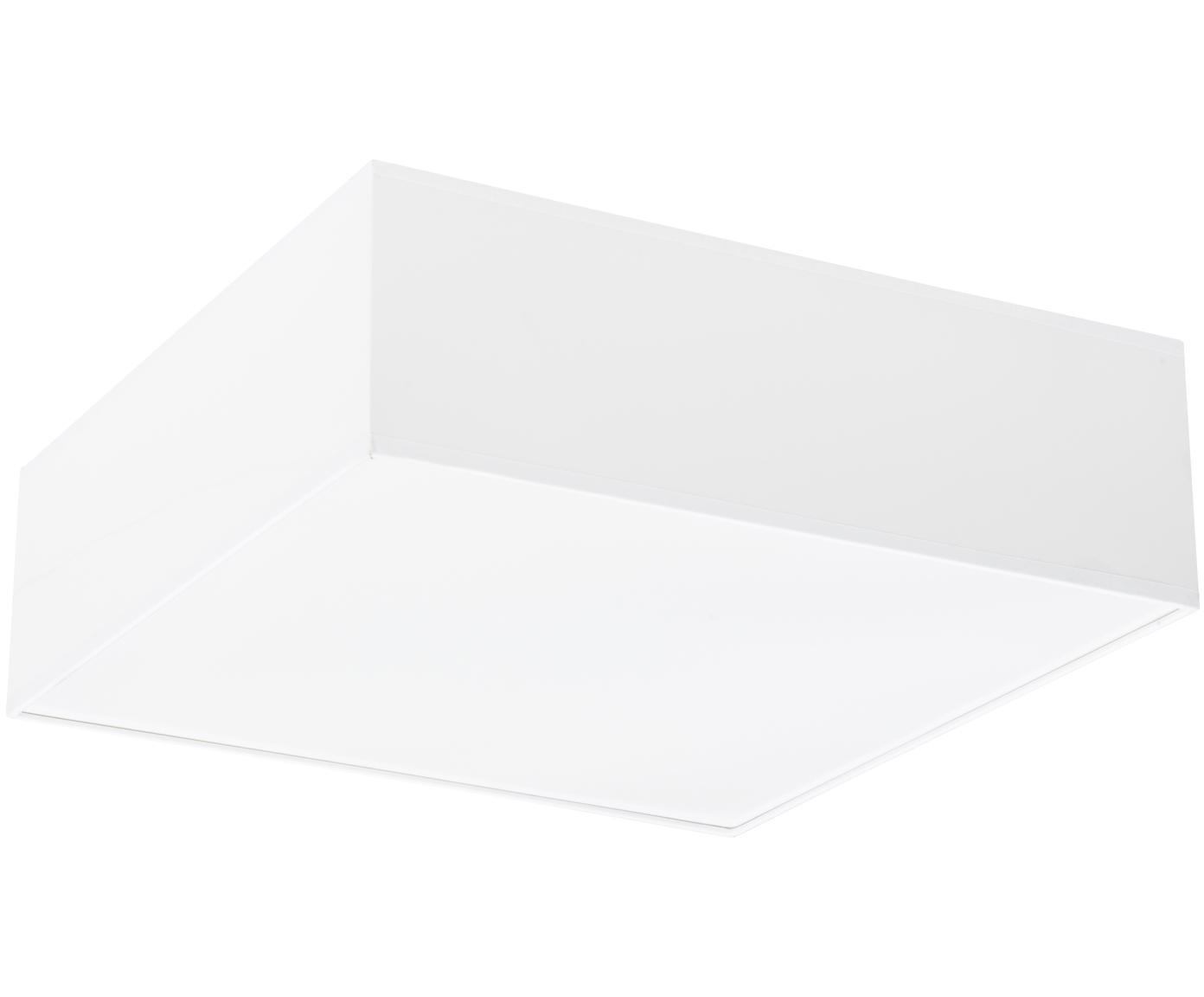 Plafondlamp Mitra uit kunststof, Kunststof (PVC), Frame: wit. Diffuser: wit, 35 x 12 cm