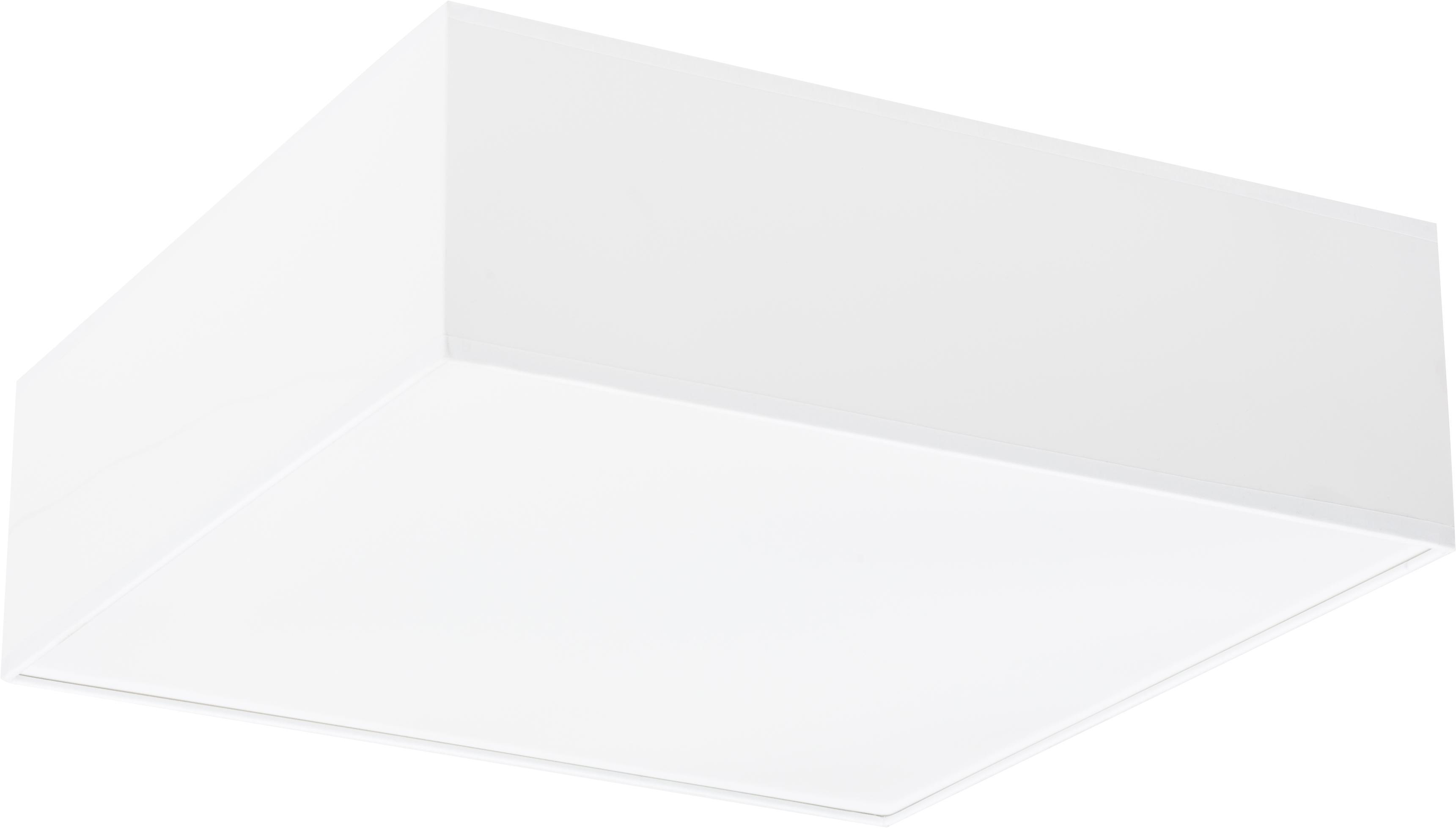 Lampa sufitowa Mitra, Tworzywo sztuczne (PVC), Rama: biały Dyfuzor: biały, S 35 x W 12 cm