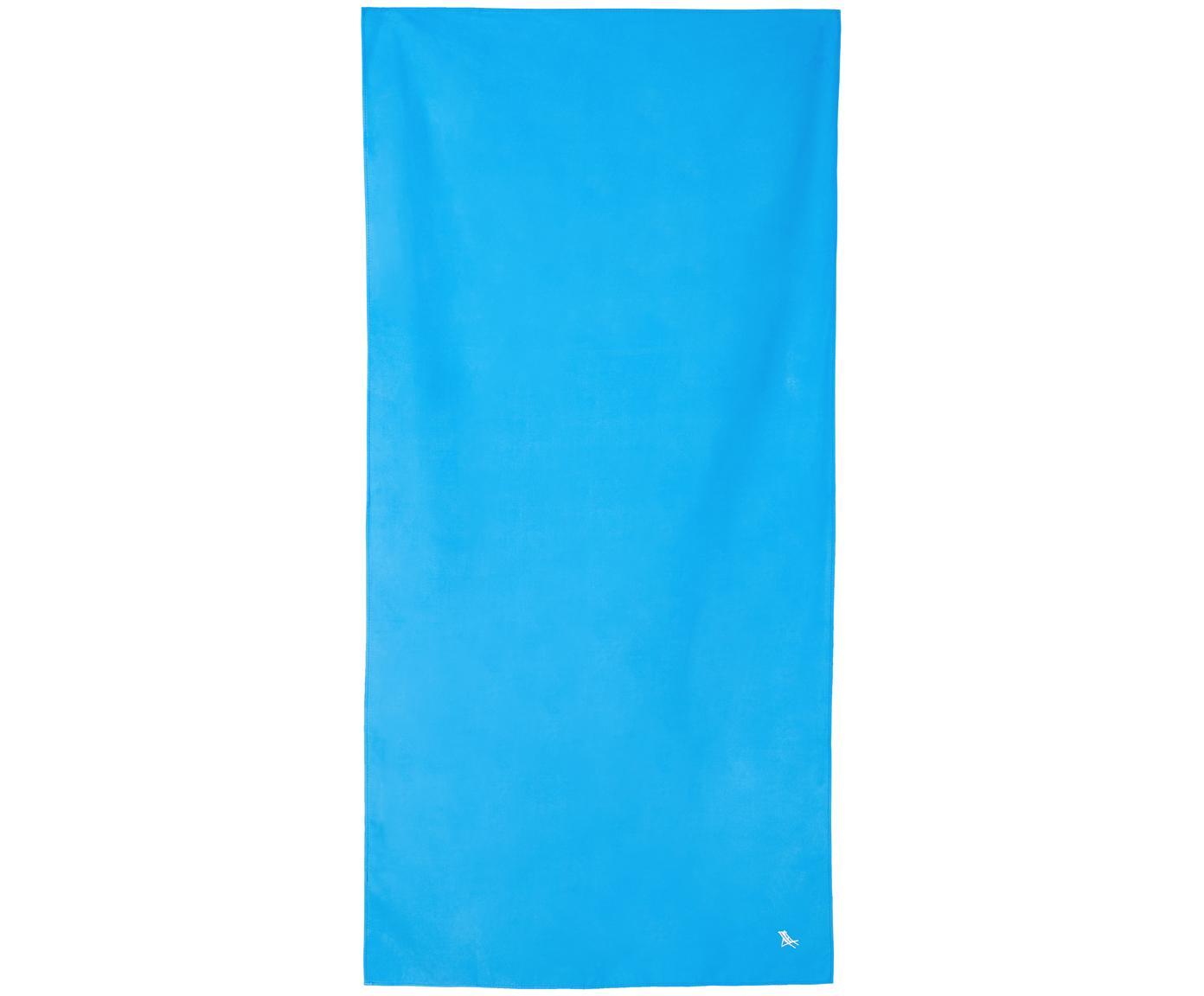 Szybkoschnący ręcznik plażowy z mikrofibry Classic, Mikrofibra (80% poliester, 20% poliamid), Niebieski, S 90 x D 200 cm
