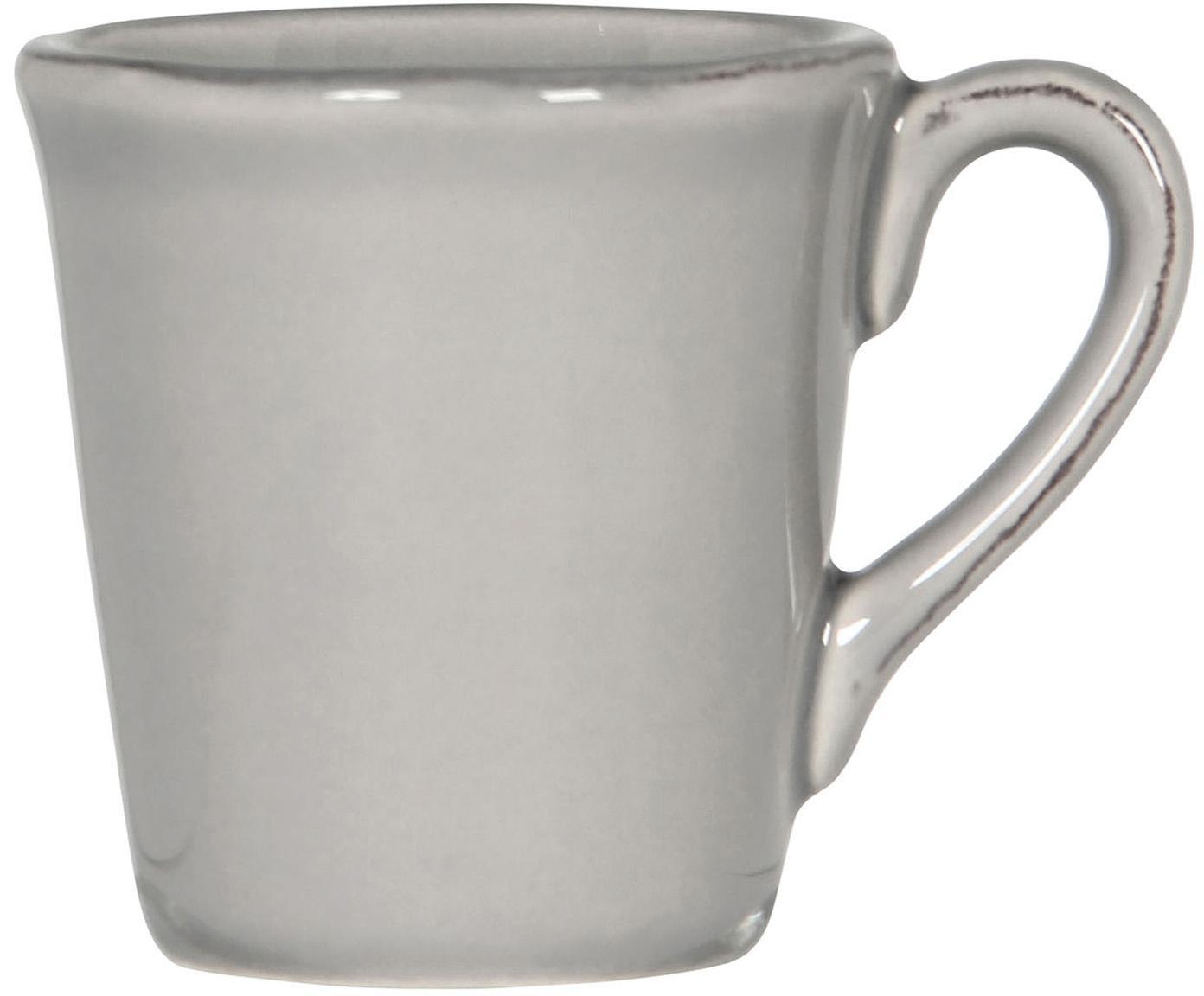 Espressokopjes Constance in grijs, 2 stuks, Keramiek, Grijs, Ø 8 x H 6 cm