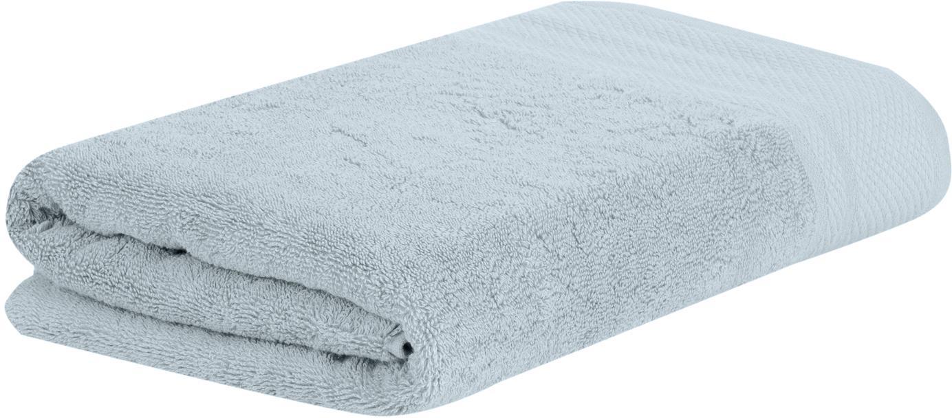 Asciugamano con bordo decorativo Premium, diverse misure, Azzurro, Asciugamano per ospiti Larg. 30 x Lung. 30 cm