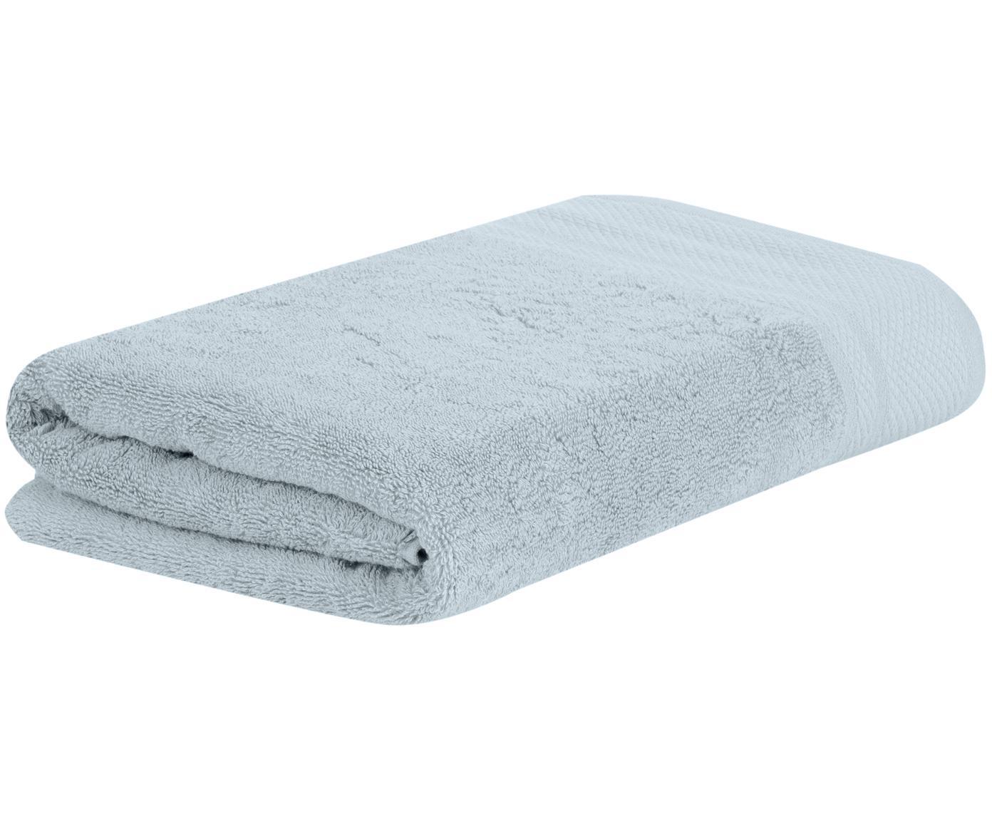 Asciugamano con bordo decorativo Premium, Azzurro, Asciugamano per ospiti Larg. 30 x Lung. 30 cm