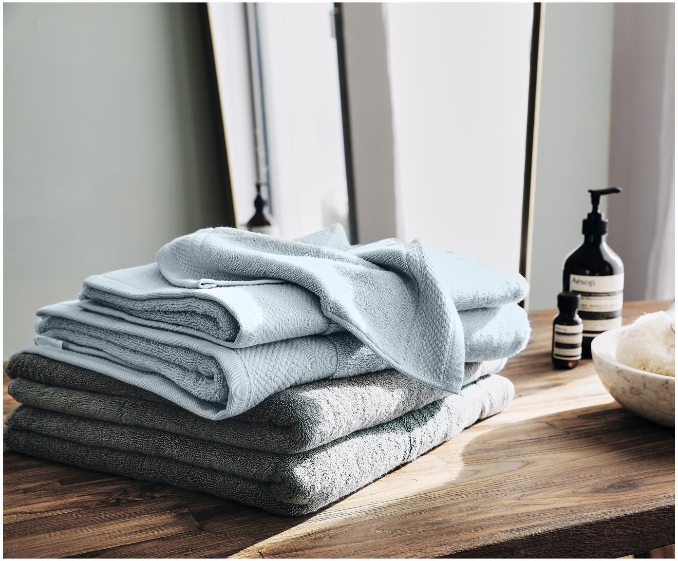 Handtuch Premium in verschiedenen Größen, mit klassischer Zierbordüre, Hellblau, XS Gästehandtuch