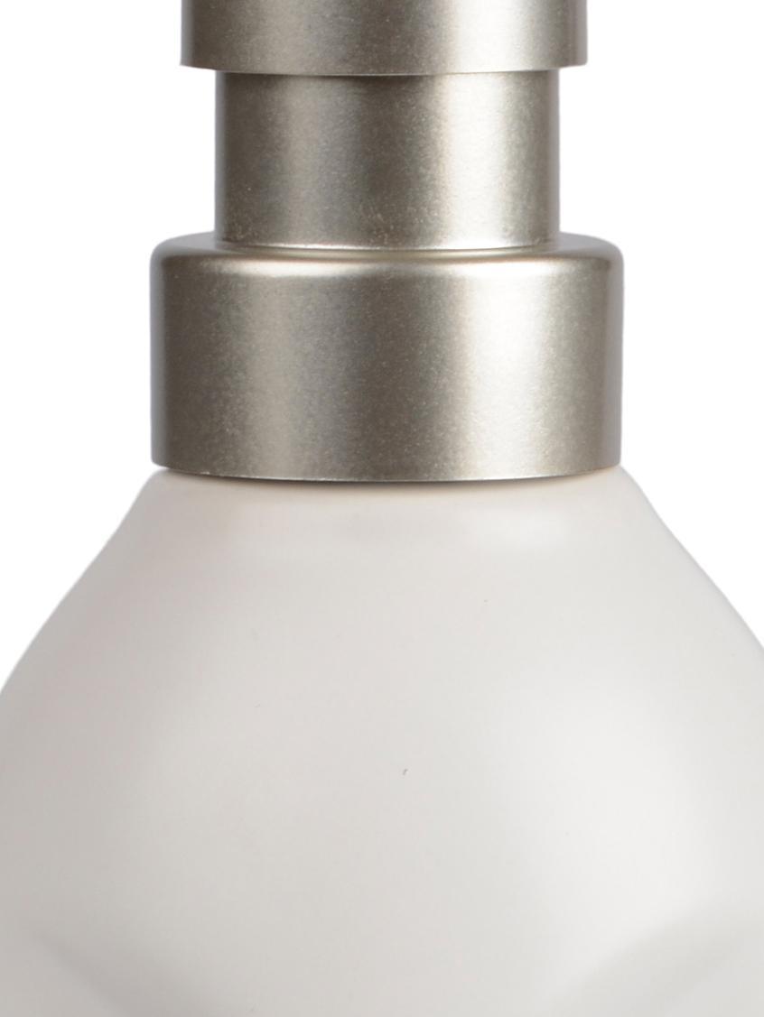 Seifenspender Urban, Behälter: Keramik, Pumpkopf: Kunststoff, Weiss, Metall, Ø 7 x H 19 cm