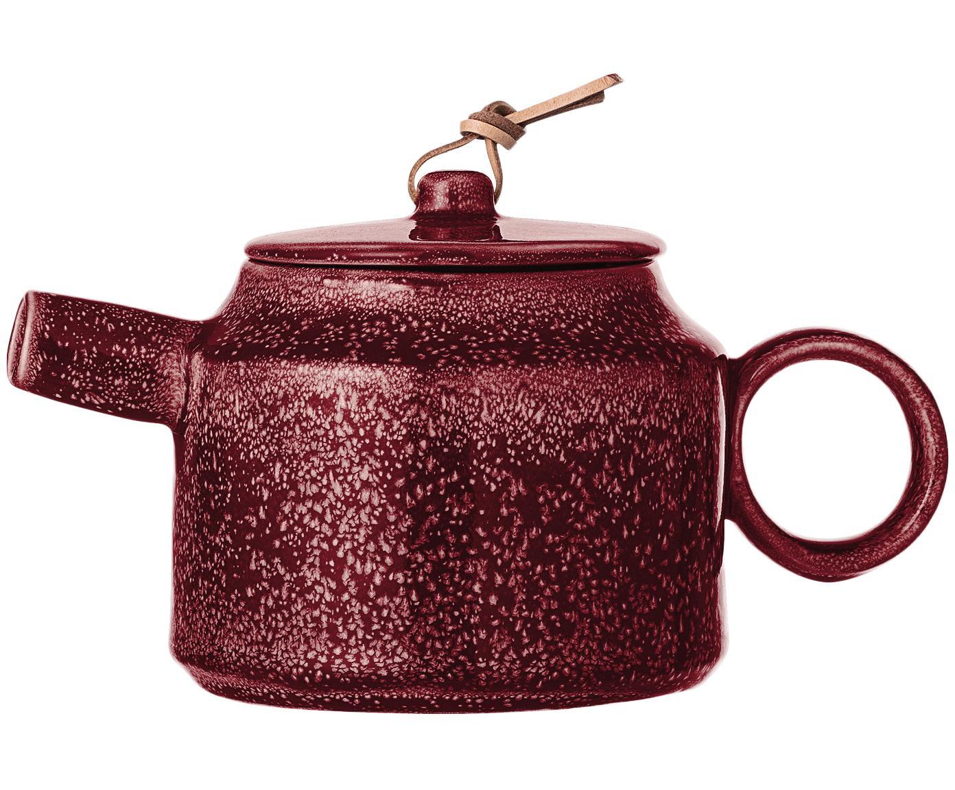 Handgemaakte theepot Joëlle, Donkerrood, 570 ml