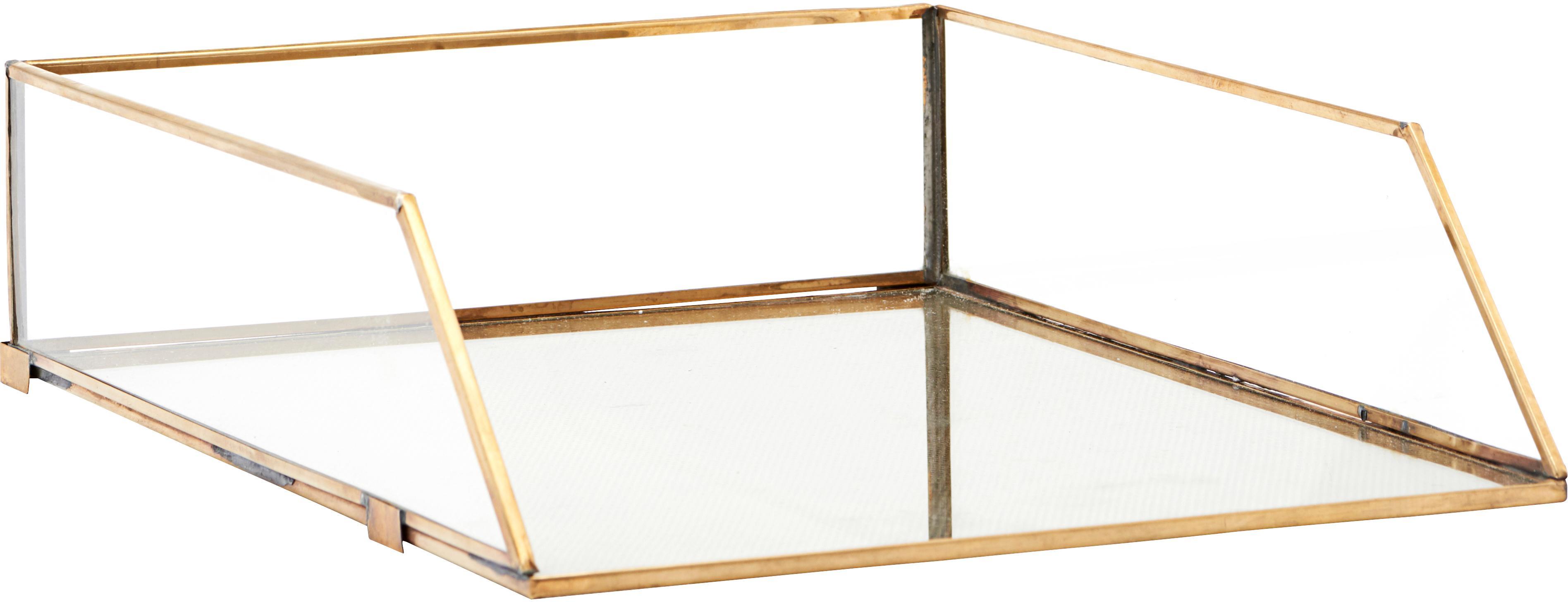 Ripiano portadocumenti Letters, Struttura: metallo rivestito, Ottone trasparente, Larg. 25 x Alt. 8 cm