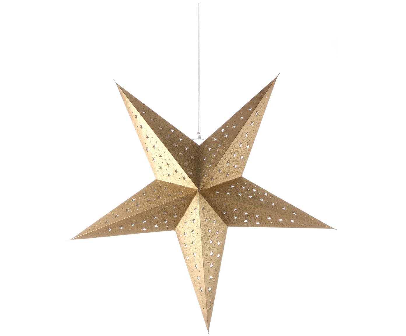 Kerstster Esther, Papier, Goudkleurig met glitters, 75 x 75 cm