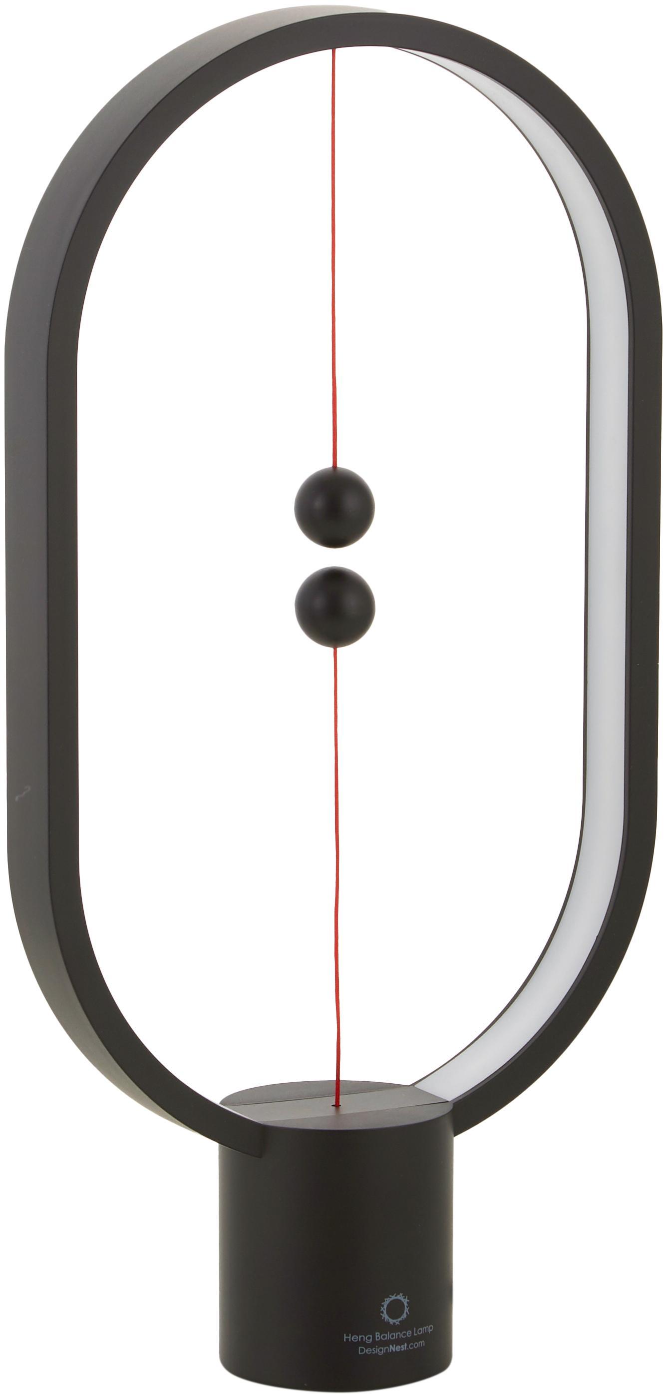Lámpara de mesa LED Heng, estilo moderno, Lámpara: plástico, Cable: plástico, Blanco, An 20 x Al 40 cm