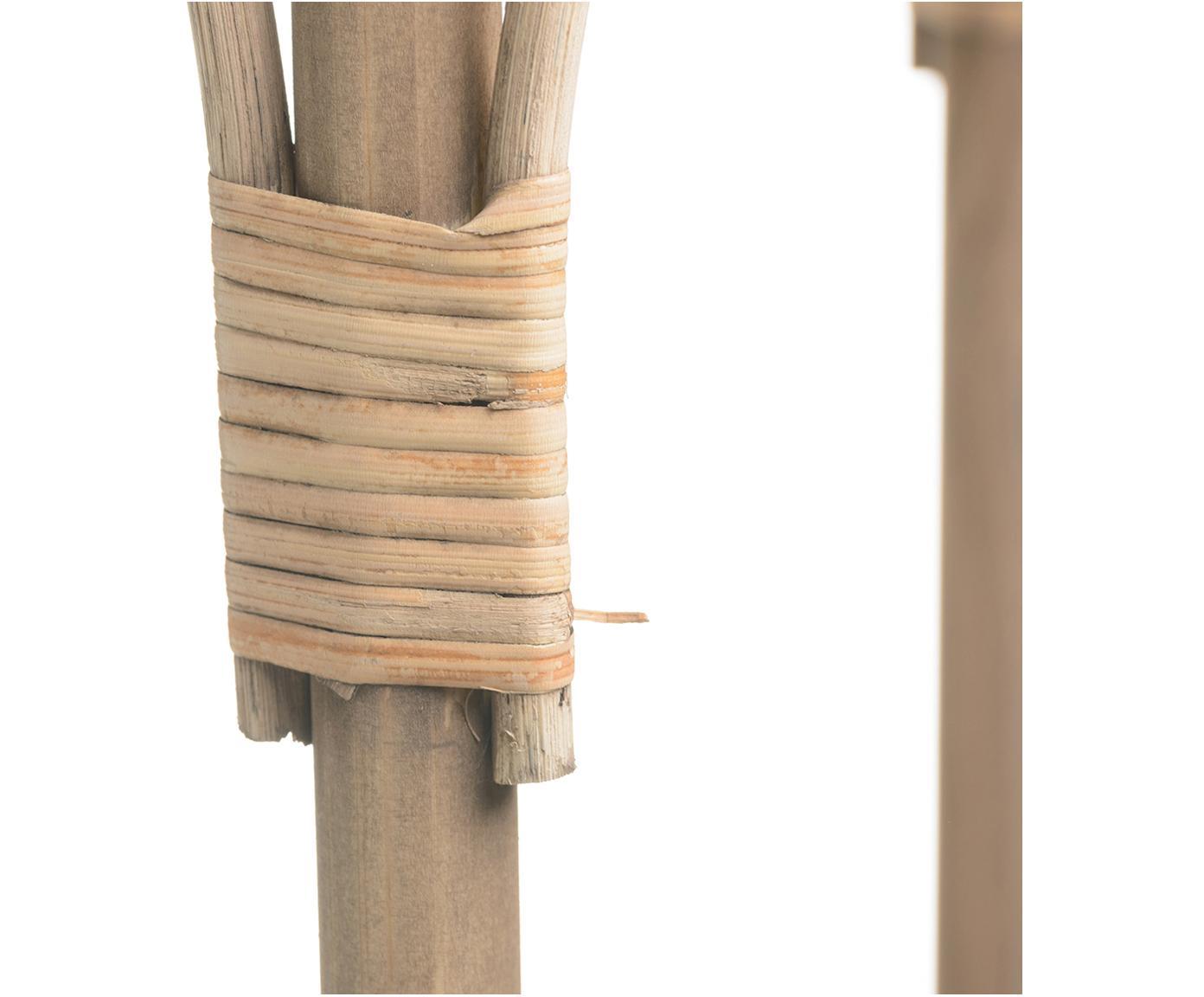 Rattan-Beistelltisch Nature mit Rollen, Rattan, Beige, Ø 42 x H 68 cm
