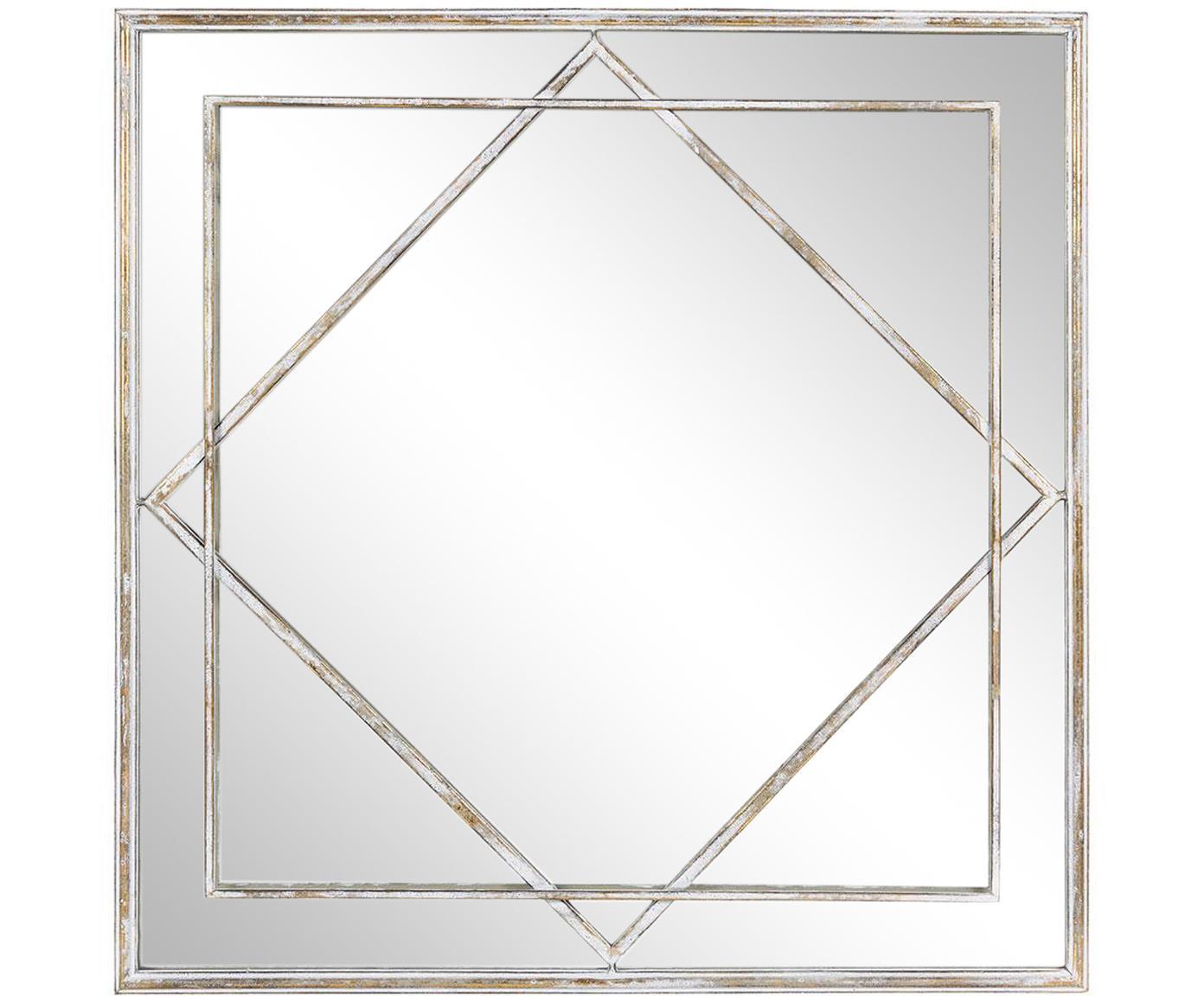 Espejo de pared Annie, Espejo: cristal, Dorado envejecido , An 69 x Al 69 cm