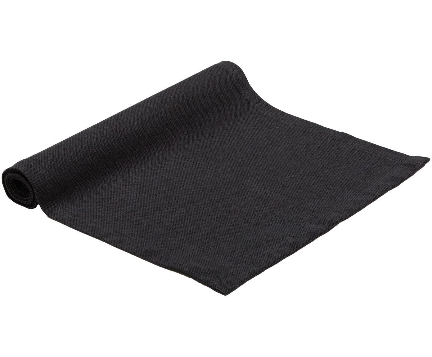 Tafelloper Riva, 55%katoen, 45%polyester, Antraciet, 40 x 150 cm