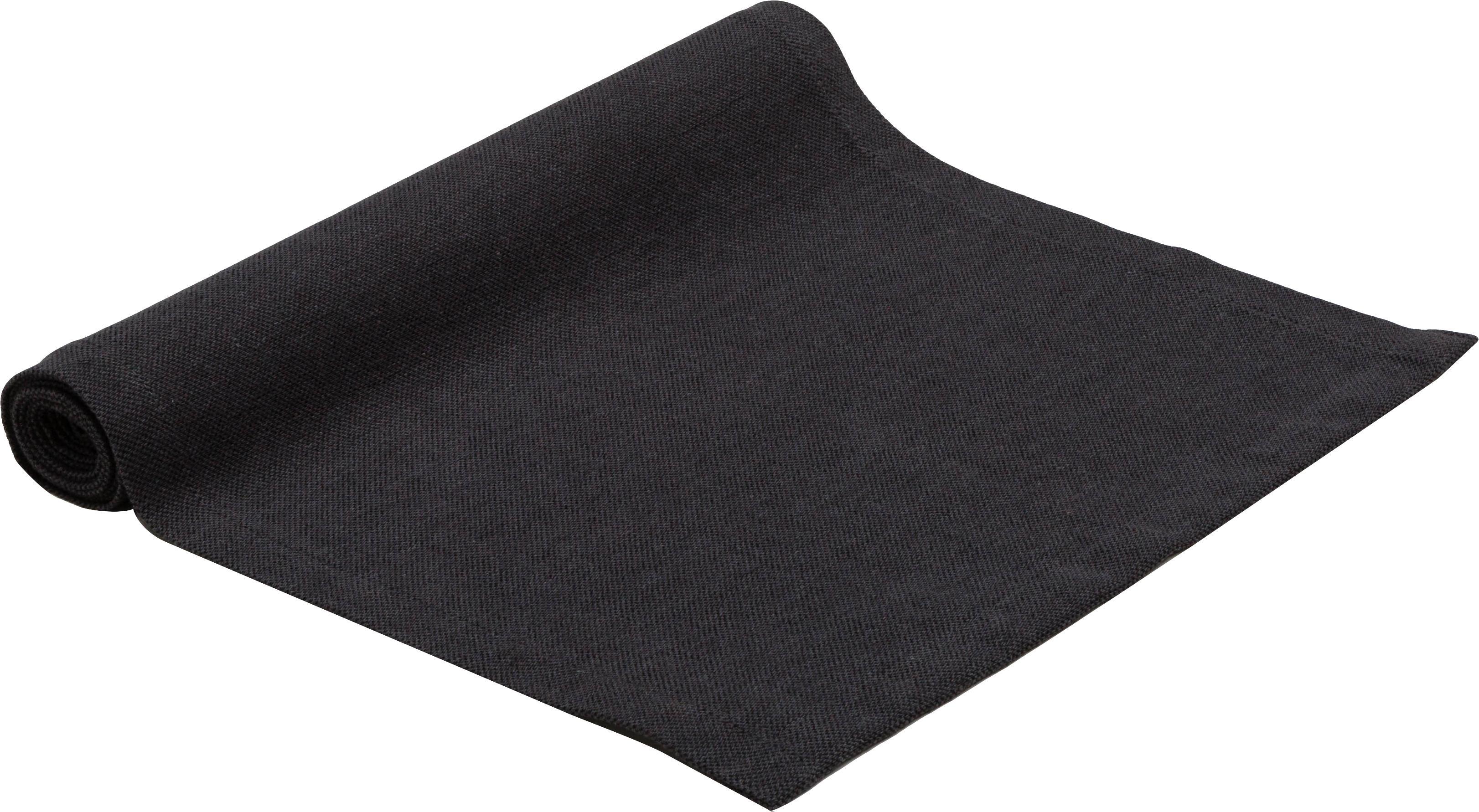 Tischläufer Riva, 55%Baumwolle, 45%Polyester, Anthrazit, 40 x 150 cm