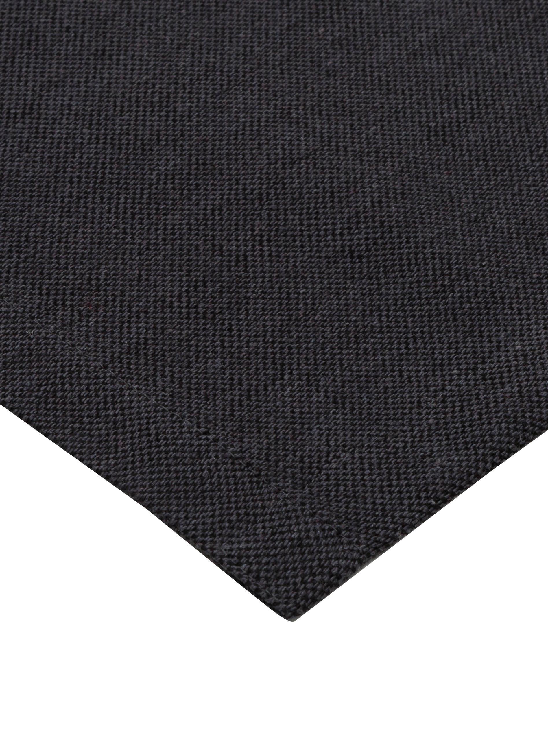 Runner da tavolo Riva, 55% cotone, 45% poliestere, Antracite, Larg. 40 x Lung. 150 cm