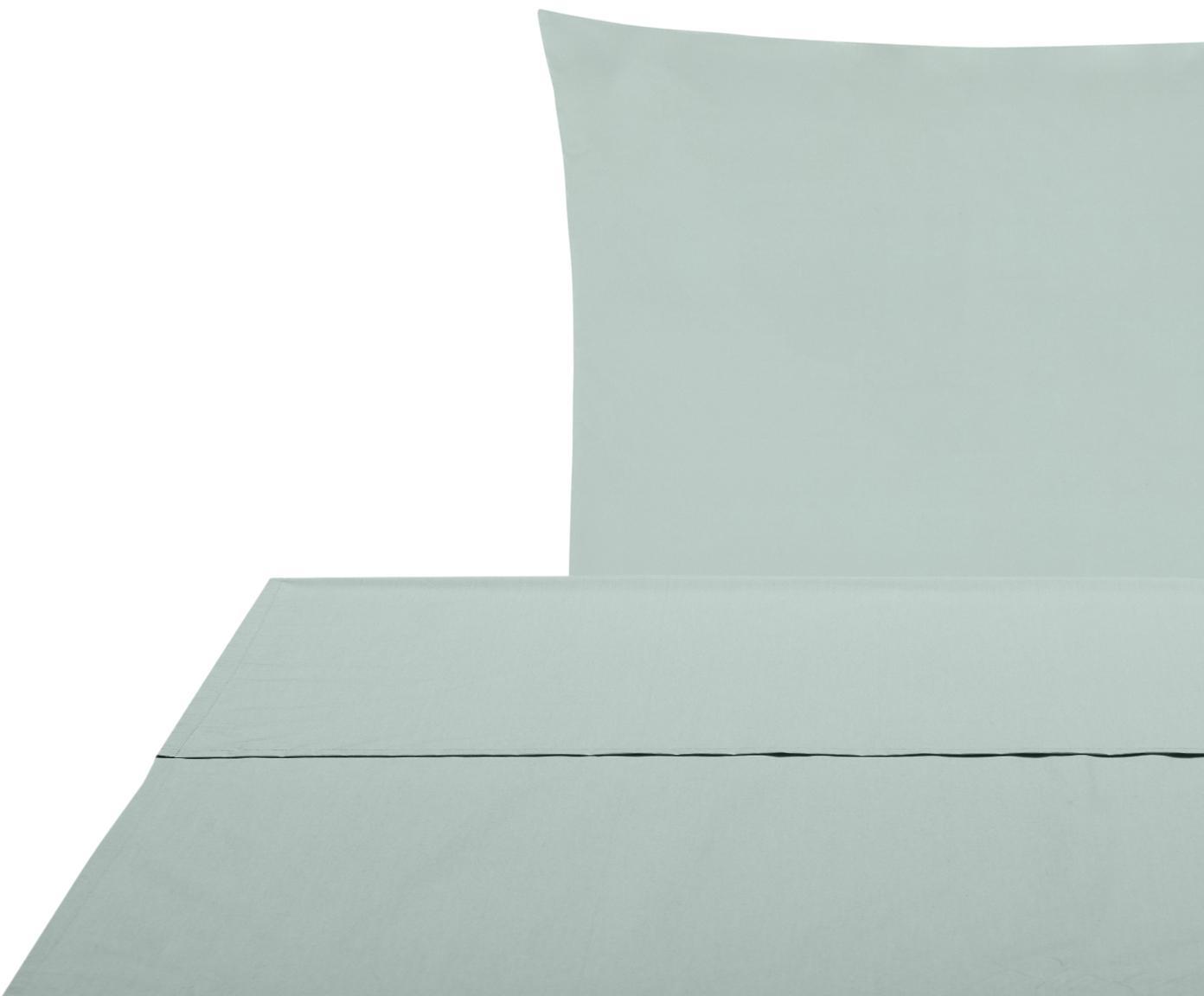 Set lenzuola in percalle Elsie 2 pz, Tessuto: percalle Densità del filo, Verde salvia, 150 x 300 cm