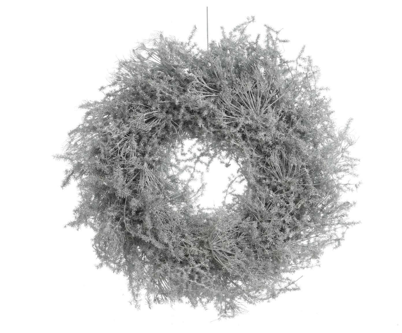 Corona navideña Aspara, Ramas de espárragos, Blanco, Ø 35 cm