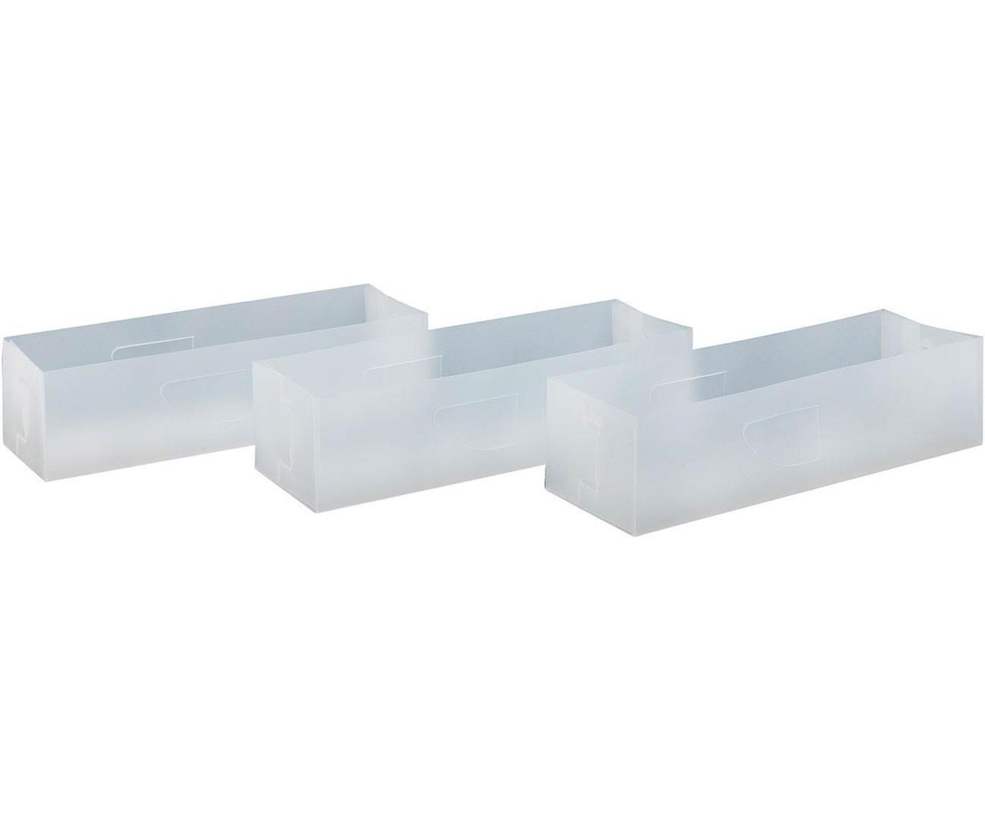 Organizadores Brunami, 12 uds., Polipropileno, Transparente, An 30 x Al 8 cm