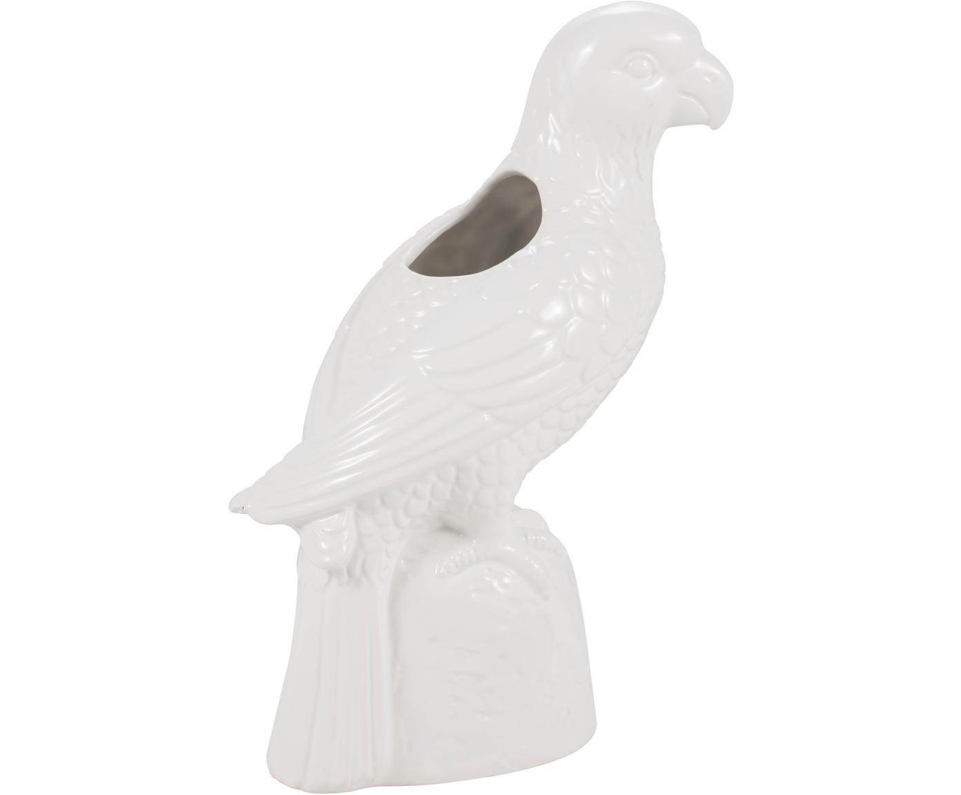 Vase Macaw aus Steingut, Steingut, Weiß, 20 x 28 cm