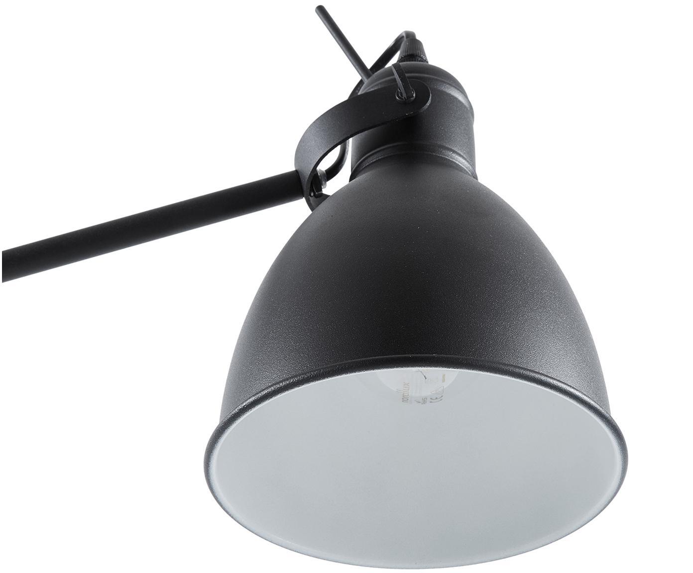 Lampada da terra Ethan, Paralume: metallo verniciato a polv, Base della lampada: metallo verniciato a polv, Nero, Ø 15 x Alt. 137 cm