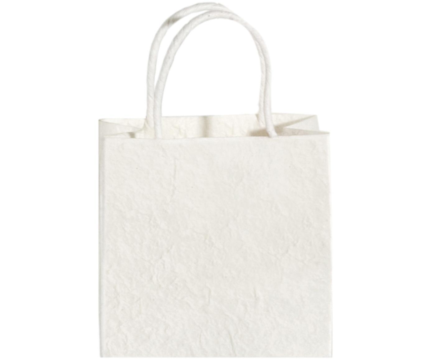 Geschenktaschen Will, 3 Stück, Papier, Weiß, Cremefarben, 20 x 20 cm