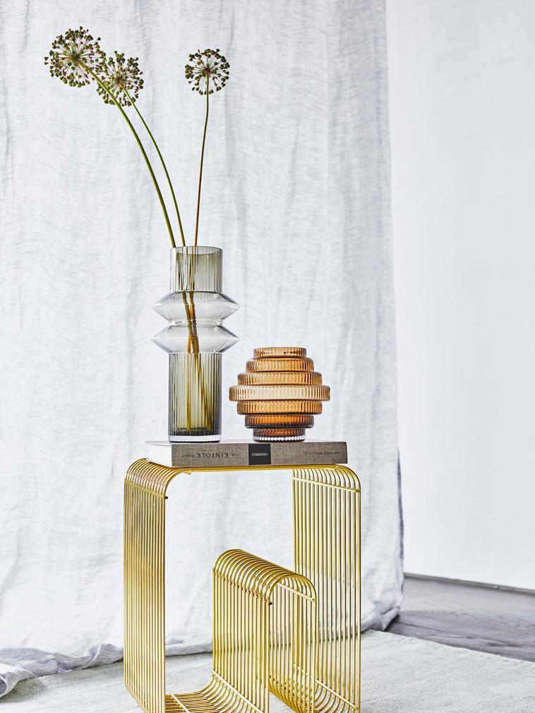 Glas-Vase Rilla, Glas, Bernsteinfarben, Ø 16 x H 16 cm