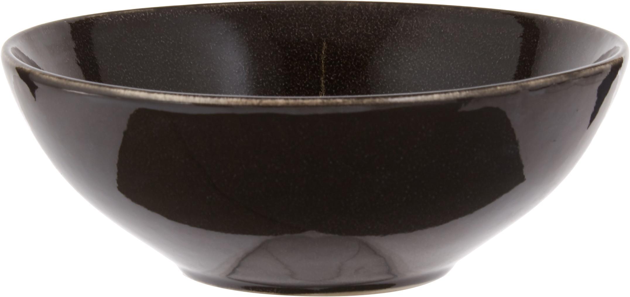 Set 12 piatti da colazione fatti a mano Nordic Coal, Terracotta, Brunastro, Diverse dimensioni